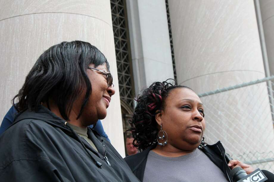 Left to right: Sherell Roberson and Lynette Murphy both lost their cousin Wanda Roberson in a Fair Haven arson in 2011. A federal jury convicted Hector Natal and Hector Morales Thursday on all counts. Photo by Rich Scinto.