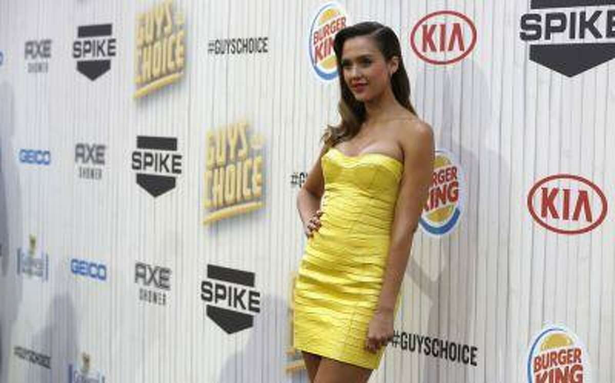 Actress Jessica Alba poses as she arrives at the seventh annual Spike TV's
