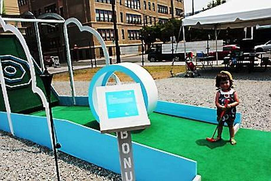 Photo courtesy of Christina Vassallo and the New Jersey City Museum: The whole family will be able to enjoy mini-golf in downtown New Haven by August.
