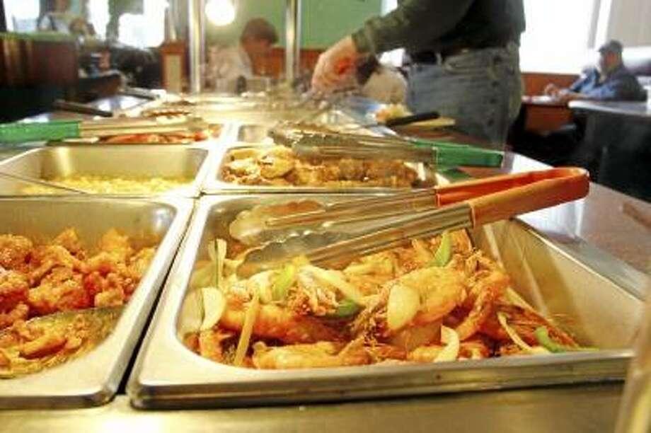 A delicious buffet of shrimp at the Hibachi & Grill Buffet in Torrington on Thursday, April 18, 2013. (ESTEBAN L. HERNANDEZ / REGISTER CITIZEN)