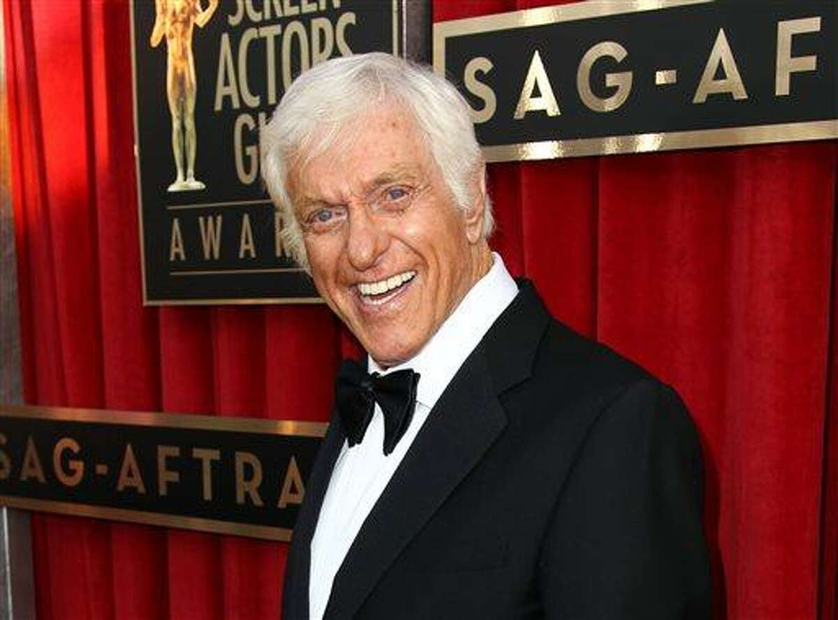 FILE - This Jan. 27, 2013 file photo shows actor Dick Van Dyke at the 19th Annual Screen Actors Guild Awards at the Shrine Auditorium in Los Angeles. Van Dyke is undergoing tests for 'cranial throbbing' that's causing him to lose sleep. Spokesman Bob Palmer said Thursday the 87-year-old Van Dyke has been experiencing a throbbing sensation in his head when lying down. Scans and other tests have yet to yield a diagnosis, Palmer said. (Photo by Matt Sayles/Invision/AP, file)