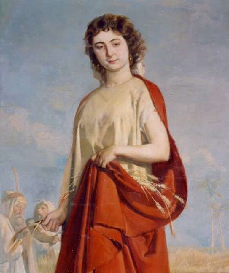 Oil on canvas depiction of Ruth by 19th century artist Antonio Cortina Farinus. This painting is on display at the Museu de Belles Arts in Valencia, Spain