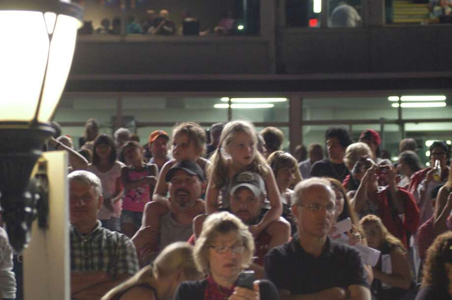 JESSI PIERCE - ONEIDA DISPATCH Vernon Downs estimates Friday night's attendance was one of the largest so far this summer.