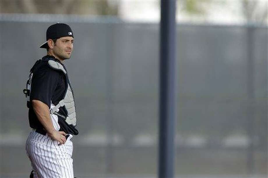 New York Yankees' Francisco Cervelli in action during a workout at baseball spring training, Wednesday, Feb. 13, 2013, in Tampa, Fla. (AP Photo/Matt Slocum) Photo: AP / AP