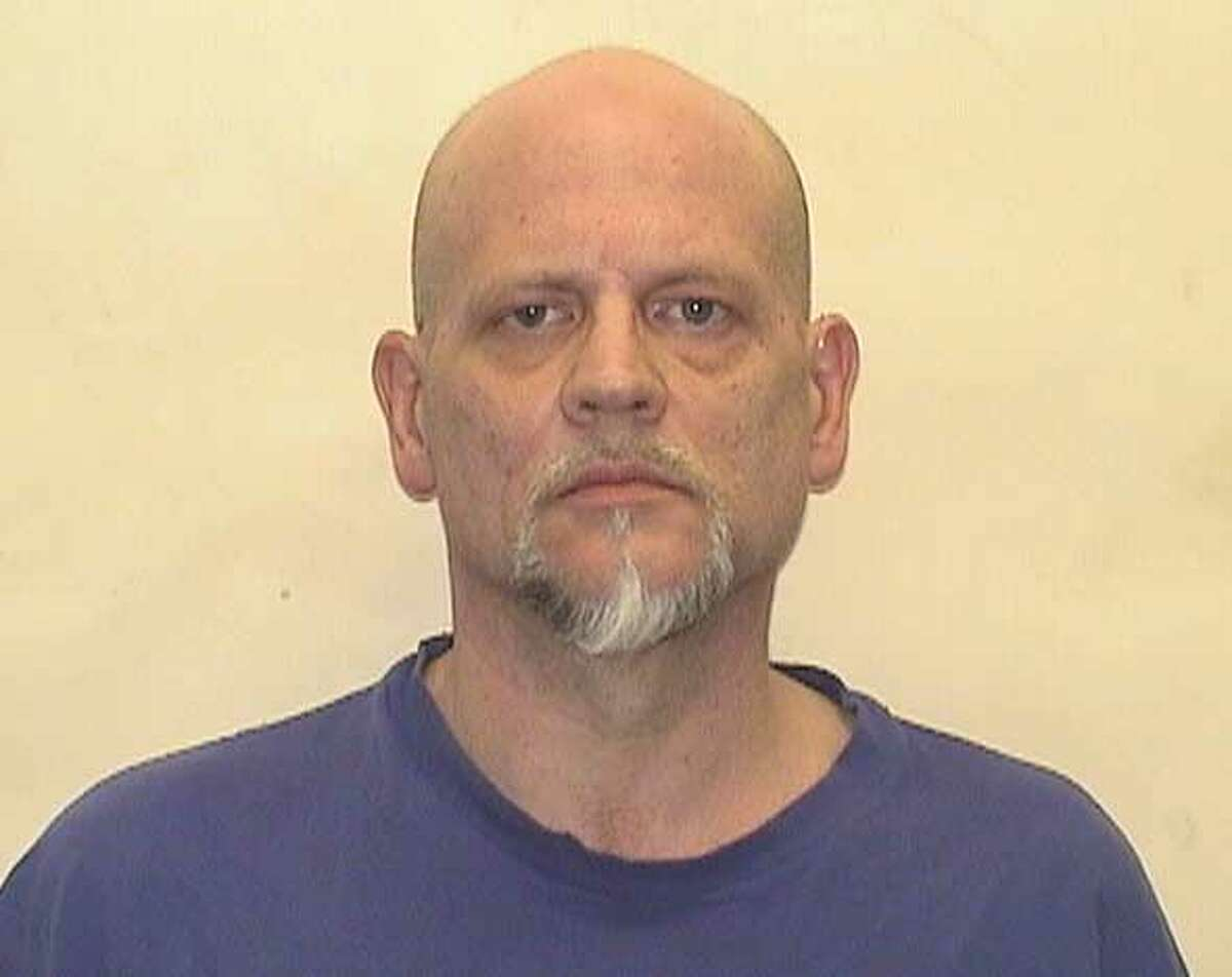 Catherine Avalone/The Middletown Press Middletown resident James Bankowski, 56, of 214 George St., was charged with threatening and second-degree reckless endangerment for allegedly waving a loaded double-barrel shot gun at a plow truck driver Friday afternoon.