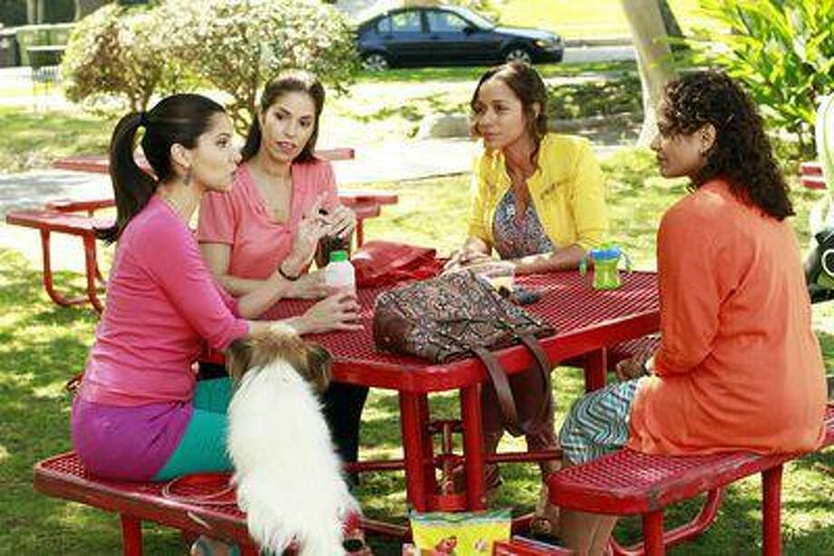 """DEVIOUS MAIDS - """"Pilot"""" - (ABC/RON TOM) ROSELYN SANCHEZ, ANA ORTIZ, DANIA RAMIREZ, JUDY REYES Photo: ABC / © 2012 American Broadcasting Companies, Inc. All rights reserved."""