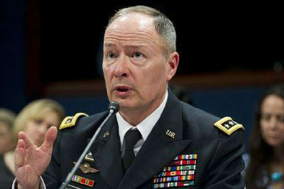 NSA Director Gen. Keith Alexander testifies before the House Select Intelligence Committee on the NSA's PRISM program during a hearing in Washington, D.C., on June 18, 2013. (Saul Loeb/AFP/Getty Images)