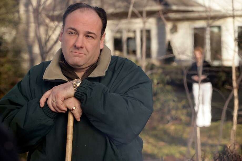 """FILE - This file photo released by HBO in 2007 shows James Gandolfini as Tony Soprano in a scene from one of the last episodes of the HBO dramatic series """"The Sopranos."""" HBO and the managers for Gandolfini say the actor died Wednesday, June 19, 2013, in Italy. He was 51.  (AP Photo/HBO, Craig Blankenhorn, File) Photo: AP / HBO"""