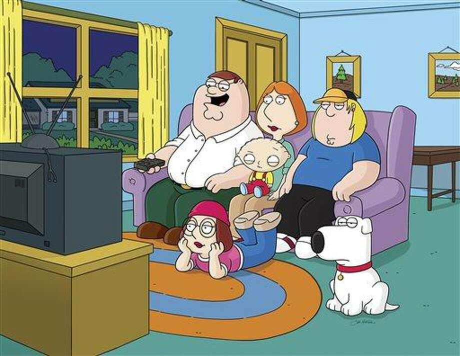 """This image released by Fox shows characters from the Fox animated series, """"Family Guy.""""  Fox is pulling from websites an episode of """"Family Guy"""" that depicts mass deaths at the Boston Marathon and has no immediate plans to air it again. Fox spokeswoman Gaude Paez says the episode has been removed from <a href=""""http://Fox.com"""">Fox.com</a> and <a href=""""http://Hulu.com"""">Hulu.com</a>. (AP Photo/Fox) Photo: AP / FOX"""