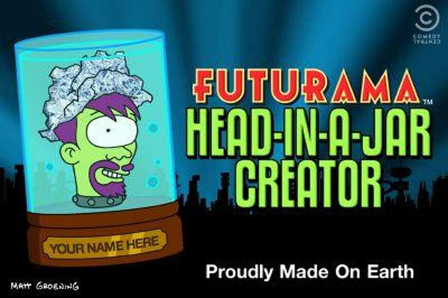 """Futurama Head-In-A-Jar Creator"" App. (PRNewsFoto/COMEDY CENTRAL Corporate Communications) Photo: PR NEWSWIRE / COMEDY CENTRAL CORPORATE COMM."