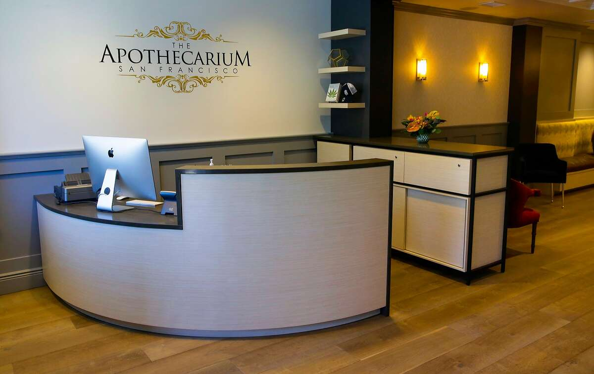 The Apothecarium, a new medical cannabis dispensary in the Marina neighborhood of San Francisco as seen on Tues. July 25, 2017. San Francisco will temporarily halt approvals of new cannabis dispensaries just months before the sale of recreational marijuana becomes legal in California, the Board of Supervisors decided Tuesday.