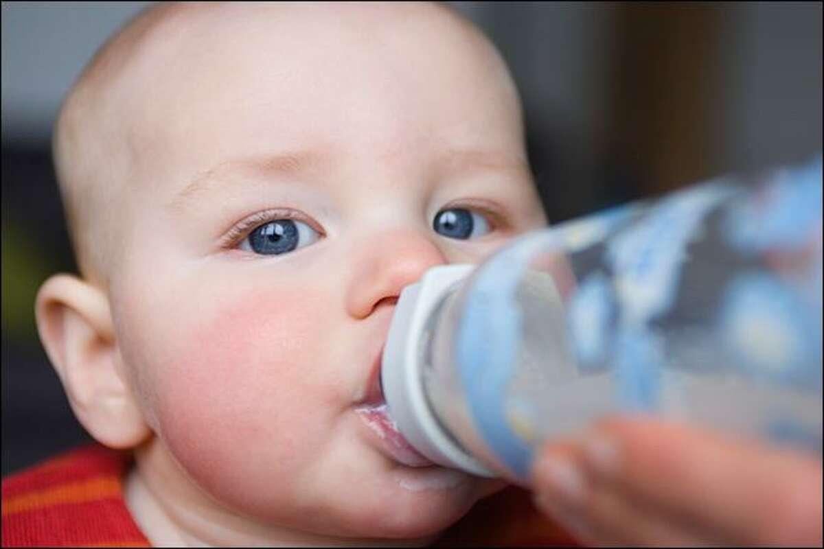 Baby bottles sometimes contain bisphenol-A.