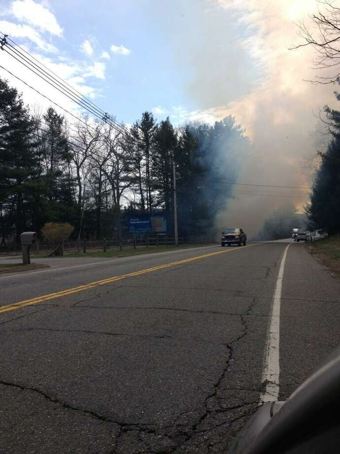 Mike Valletta posted this photo on Twitter of a fire on Winsted Road.