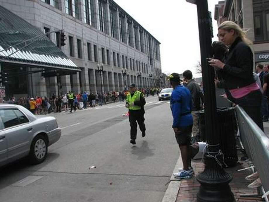 Photo by Jennifer Kaylin from scene in Boston, where she is with her husband, Register reporter and columnist Randall Beach