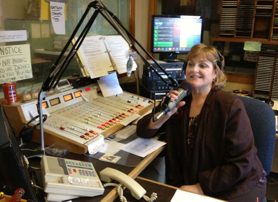 Jolene Cleaver/Oneida Daily Dispatch Linda Wimmer, on air talent at WMCR, does a show on Monday in Oneida.