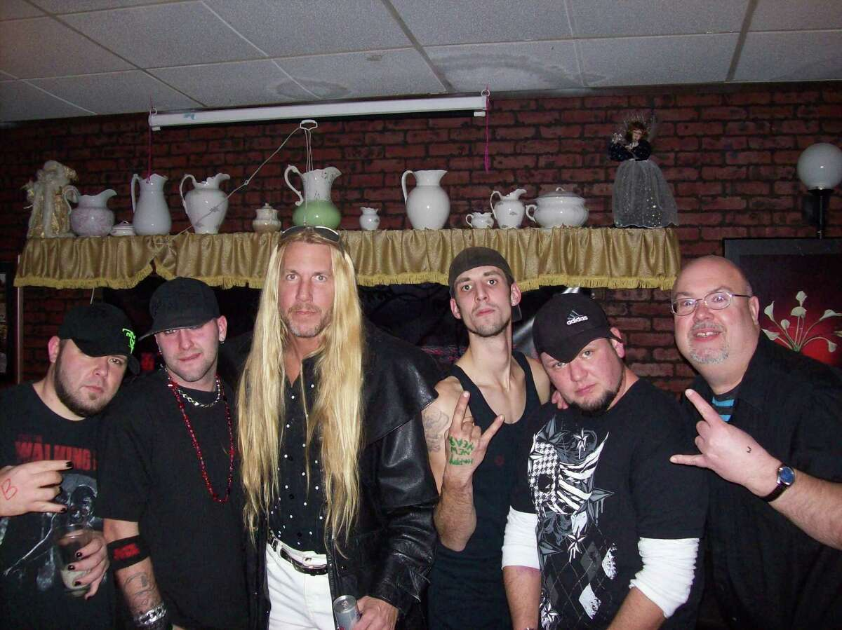 (Submitted Photo) Members of Blame Anchor and Coston, including, from left, Shawn Scribner, Dan Hartle, Roy Coston, Joe Boucher, Don Ostrander, and Mike Jaquays, will hit the stage Feb. 16 for Twizted Ink's