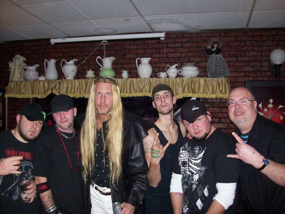 "(Submitted Photo) Members of Blame Anchor and Coston, including, from left, Shawn Scribner, Dan Hartle, Roy Coston, Joe Boucher, Don Ostrander, and Mike Jaquays, will hit the stage Feb. 16 for Twizted Ink's ""My Bloody Valentine Bash"" at the Clark Mills American Legion."