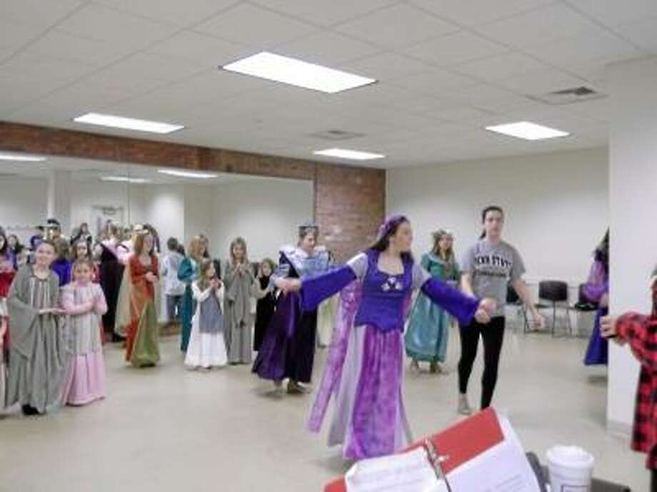"""NIKKI TRELEAVEN/The Register Citizen Local residents Matthew and Barbara Sargent-Valenti will put on their original version of """"Sleeping Beauty"""" the musical at the Warner this weekend."""
