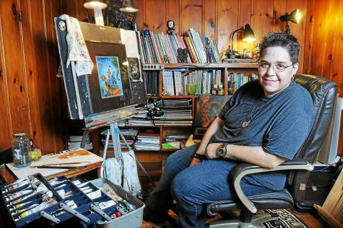 Catherine Avalone/The Middletown Press Middletown illustrator Jenn Maynard is currently working on her first picture book,