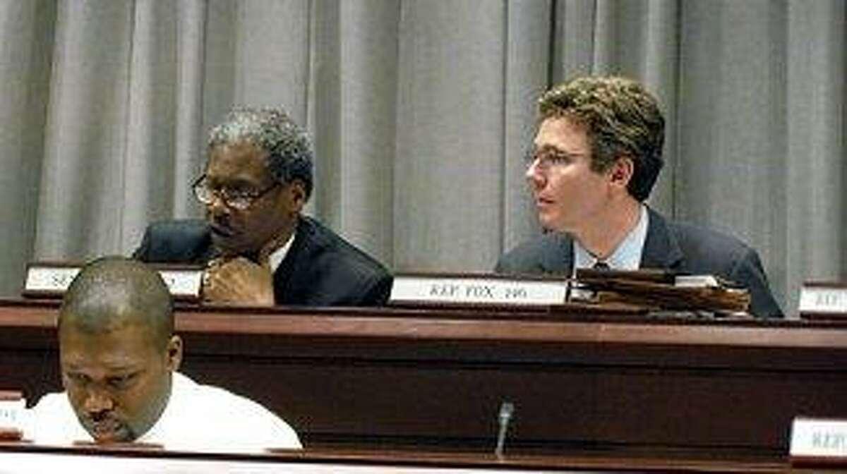 Sen. Eric Coleman, Rep. Gerald Fox, and at the bottom Rep. Gary Holder-Winfield -- Christine Stuart Photo