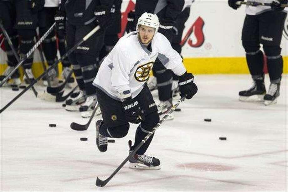 Boston Bruins center Tyler Seguin. (AP Photo/Scott Eisen) Photo: AP / AP