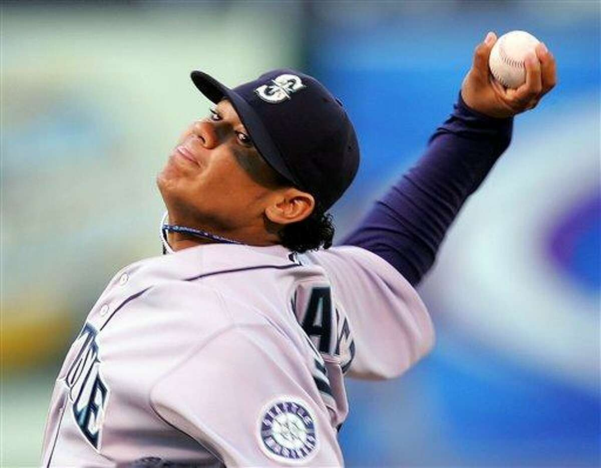 Seattle Mariners starter Felix Hernandez. (AP Photo/Marcio Jose Sanchez)