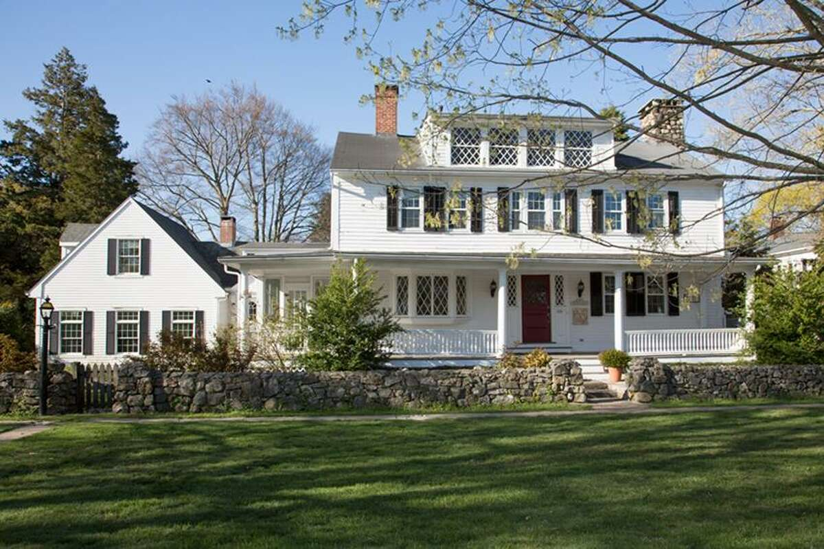 Anne Foley photo: This house, one of the oldest on the Madison house tour, started out as a simple Cape Cod.