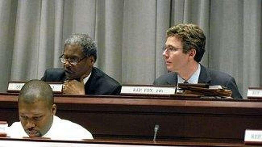 Sen. Eric Coleman, Rep. Gerald Fox, and at the bottom Rep. Gary Holder-Winfield Courtesy CTNEWSJUNKIE