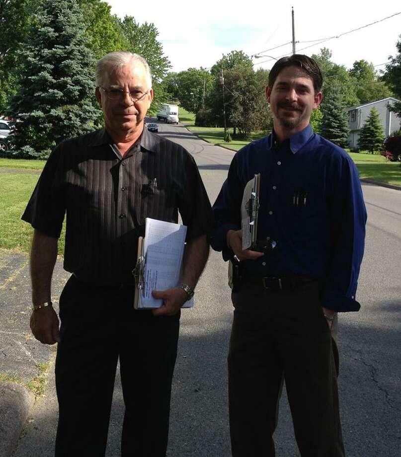 Jolene Cleaver/Oneida Daily Dispatch Joseph (John) Pinard and son John Pinard.