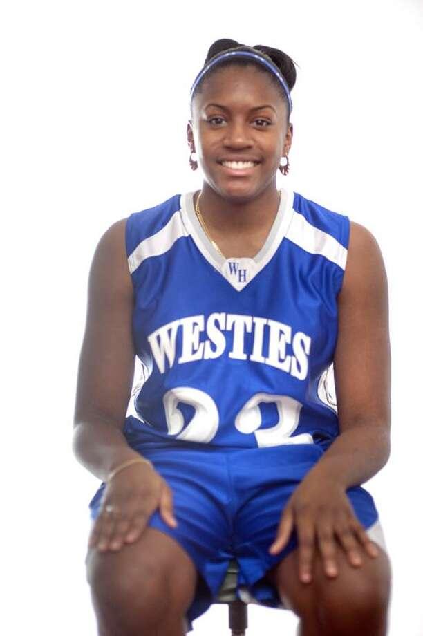 West Haven's Jayva Johnson, the Register Athlete of the Week. (VM Williams/Register)