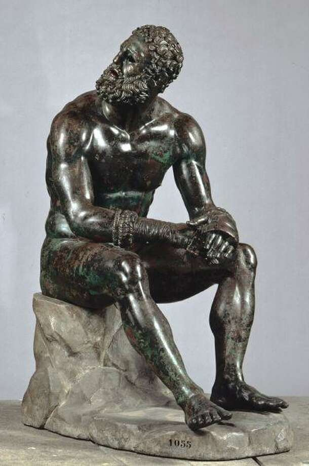 "Excavated in 1885, the Greek ""Boxer at rest,"" is in New York City to celebrate ""2013 - Year of Italian Culture in the United States."""