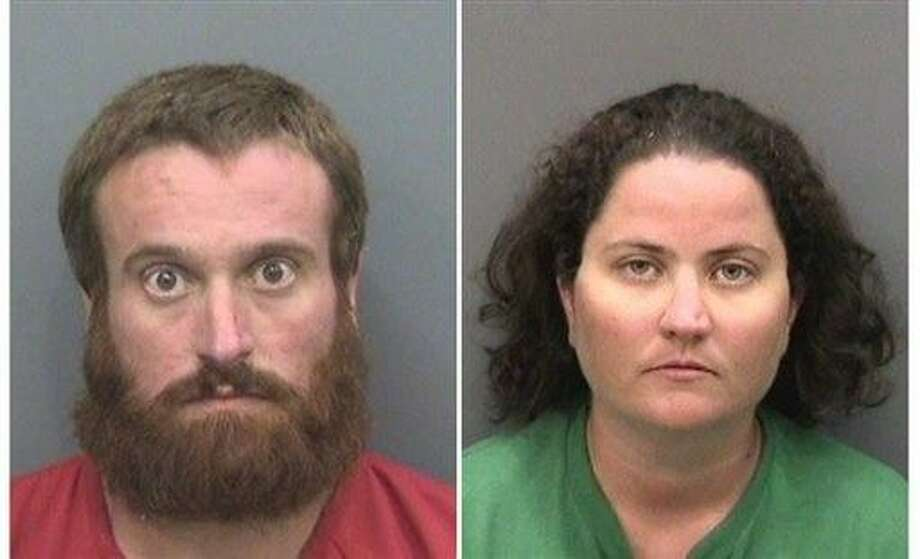 These photos provided by Hillsborough County Sheriff's Office show Joshua Michael Hakken, left, and Sharyn Hakken.  Joshua Michael Hakken and his wife,Sharyn, are accused of kidnapping their two young sons and fleeing by boat to Cuba. They were handed over to the United States and their children were returned to the maternal grandparents who have official custody, authorities said Wednesday, April 10, 2013.  The couple are being held at the Hillsborough County Jail on a number of charges including kidnapping, child neglect and interference with custody, the Hillsborough County Sheriff's Office said on its website. U.S. authorities say the Hakkens kidnapped there sons, 4-year-old Cole and 2-year-old Chase, from his mother-in-law's house north of Tampa, Florida. The boys' grandparents were granted permanent custody of the boys last week. (AP Photo/Hillsborough County Sheriff's Office) Photo: AP / Hillsborough County Sheriff's Office