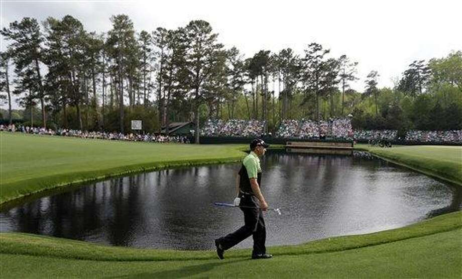 AP Photo/David J. Phillip Sergio Garcia, of Spain, walks to the 15th green during the first round of the Masters golf tournament Thursday, April 11, 2013, in Augusta, Ga. Photo: AP / AP