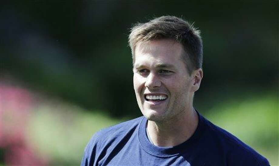 New England Patriots quarterback Tom Brady in Foxborough, Mass., Wednesday June 12, 2013. (AP Photo/Charles Krupa) Photo: AP / AP