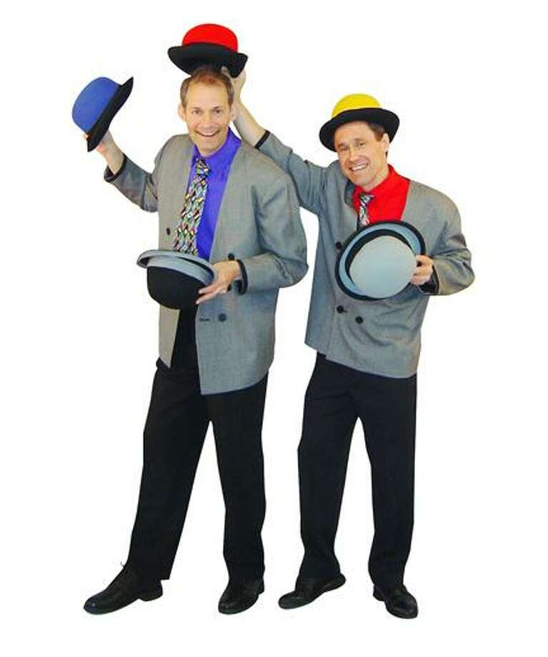 "Photo from <a href=""http://thegizmoguys.com"">thegizmoguys.com</a> The Gizmo Guys, Allan Jacobs and Barrett Felker, will bring their zany juggling antics to the Munson-Williams-Proctor Arts Institute Saturday, April 13, 2013, at 11 a.m. and 1 p.m."