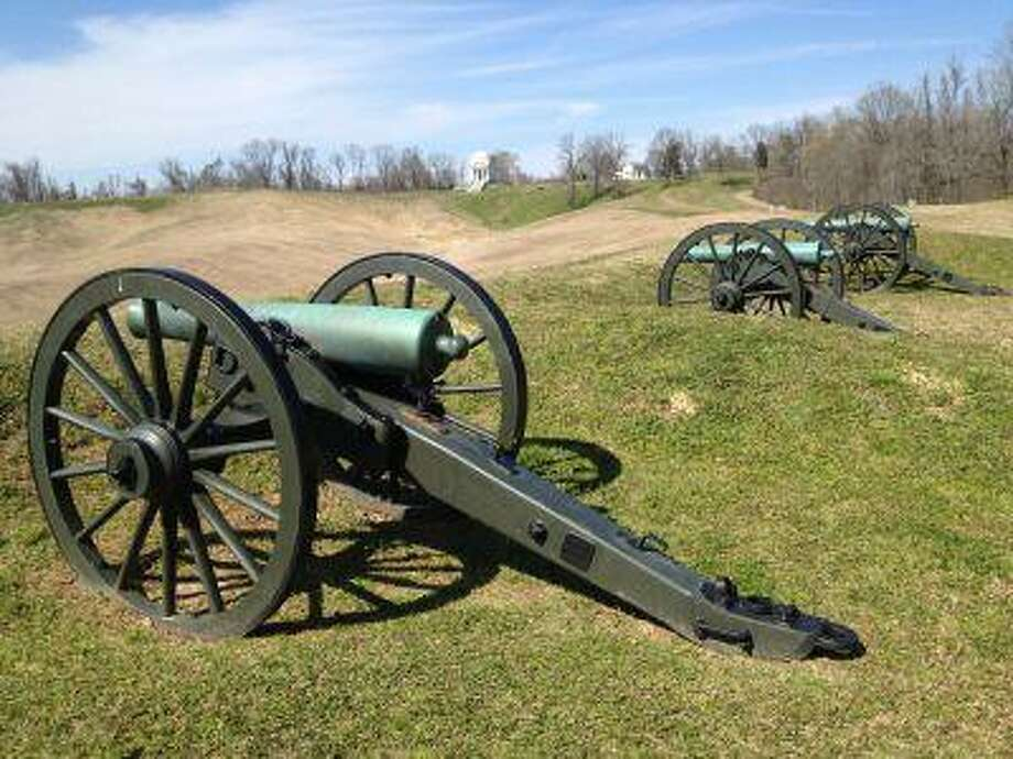 The 16-mile touring road in Vicksburg National Military Park, photographed on March 14 in Vicksburg, Miss., ribbons through Confederate and Union battle sites. Photo: The Washington Post / TWP