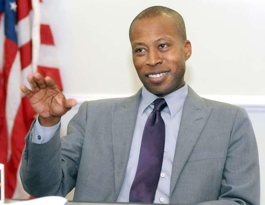 Hamden Mayor Scott Jackson announced he will run for another term as Hamden mayor. Mara Lavitt/New Haven Register4/9/13