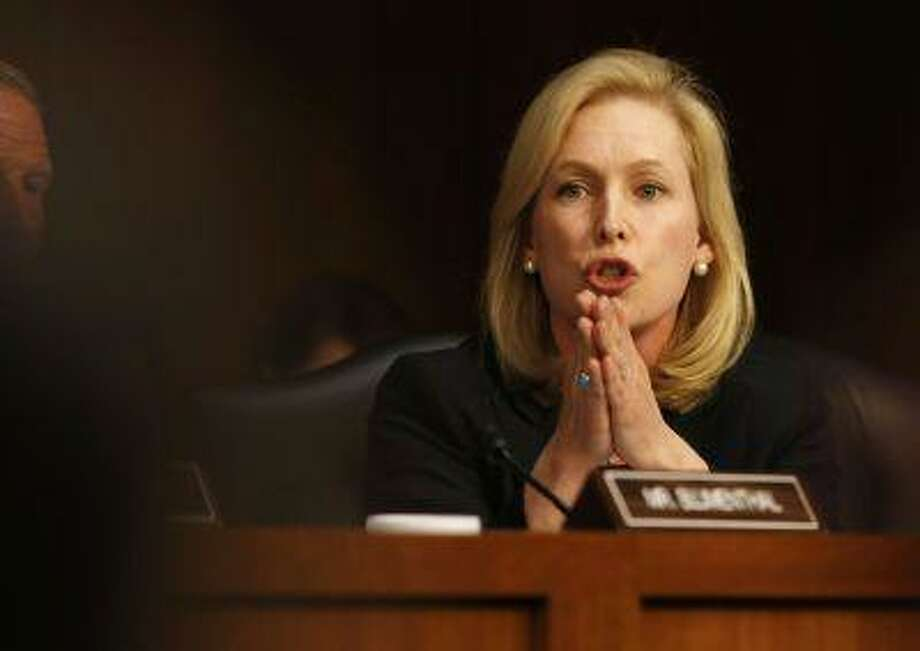 U.S. Sen. Kirsten Gillibrand, (D-NY) speaks about pending legislation regarding sexual assaults in the military at a Senate Armed Services Committee on Capitol Hill in Washington, June 4, 2013. (Larry Downing/Reuters) Photo: REUTERS / X00961