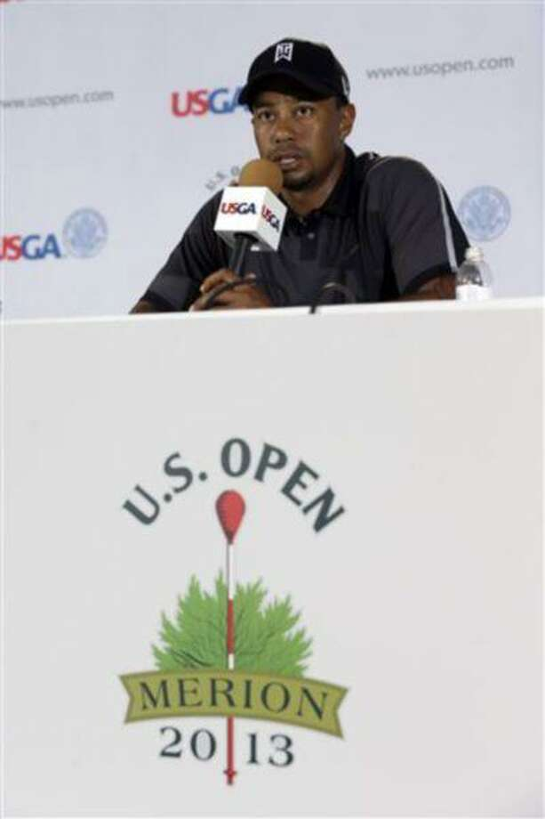 Tiger Woods speaks during a news conference at the U.S. Open golf tournament at Merion Golf Club, Tuesday, in Ardmore, Pa. Photo: AP / AP