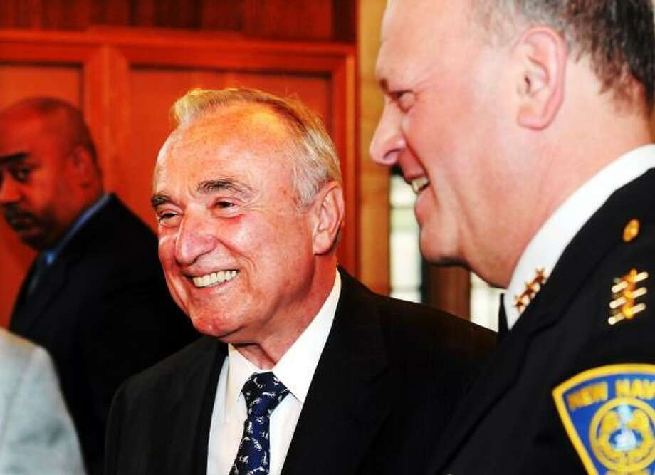 Mara Lavitt New Haven Register  On June 11, 2013 Former chief of the Bsoton, New York City and Los Angeles police departments, William Bratton, with New Haven Police Chief Dean Esserman at the Yeshiva of New Haven's 36th annual gathering at Yale's Berkeley College.