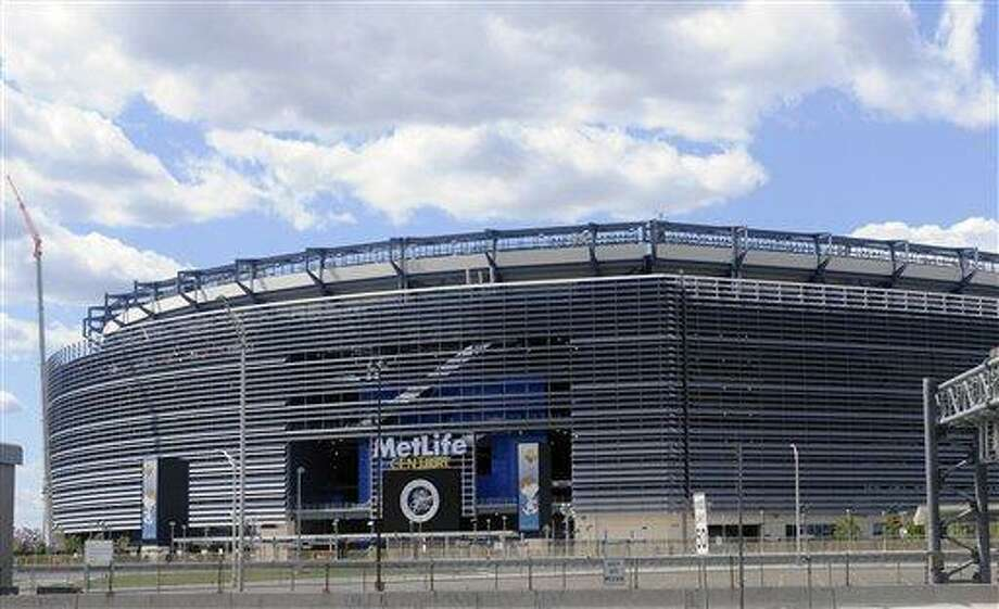 The home of the Giants and Jets, shown Tuesday, Aug. 23, 2011 in East Rutherford, N.J.,  is going to be called MetLife Stadium for the next 25 years. The New York-based insurance giant and the two NFL teams who co-own the stadium announced on Tuesday that MetLife has purchased the naming rights for the stadium, which will be the site of the 2014 Super Bowl.  (AP Photo/Bill Kostroun) Photo: ASSOCIATED PRESS / AP2011