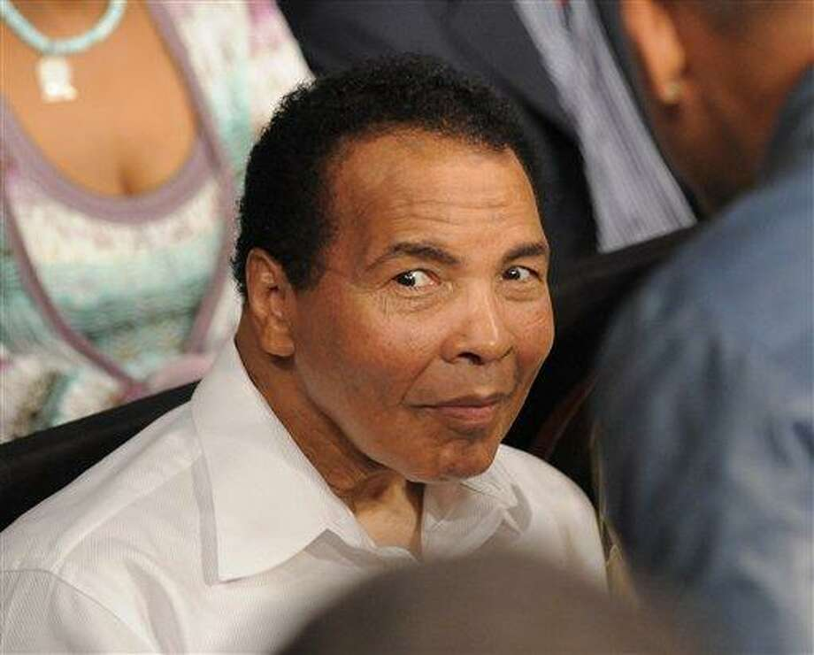 Boxing legend Muhammed Ali Saturday, May 1, 2010, in Las Vegas.  (AP Photo/Mark J. Terrill) Photo: ASSOCIATED PRESS / AP2010