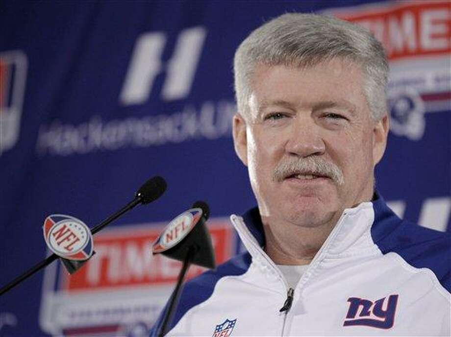 Giants offensive coordinator Kevin Gilbride thinks the 49ers will beat the Ravens in the Super Bowl. (AP Photo) Photo: ASSOCIATED PRESS / AP2012