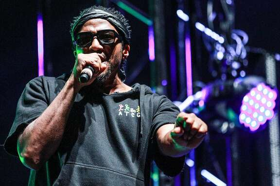 LOS ANGELES, CA - JULY 22:  Q-Tip of A Tribe Called Quest performs onstage during day 2 of FYF Fest 2017 at Exposition Park on July 22, 2017 in Los Angeles, California.  (Photo by Rich Fury/Getty Images for FYF)