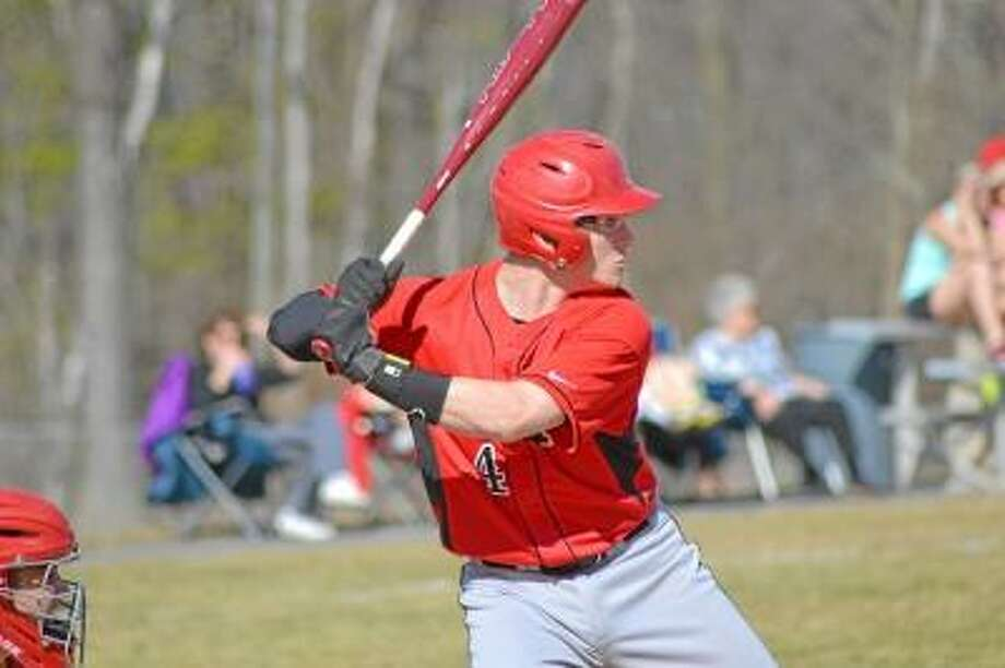 Pete Paguaga/Register Citizen  Northwestern's Zach Risedorf gets ready to hit against Wamogo. Risedorf went 2-for-4 with 3 RBI and a walk.