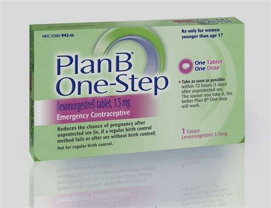 FILE - This undated file photo provided by Barr Pharmaceuticals Inc., shows a package of Plan B One-Step, an emergency contraceptive. The federal government on Monday, June 10, 2013 told a judge it will reverse course and take steps to comply with his order to allow girls of any age to buy emergency contraception without prescriptions.  (AP Photo/Barr Pharmaceuticals Inc., File) Photo: AP / Barr Pharmaceuticals Inc.