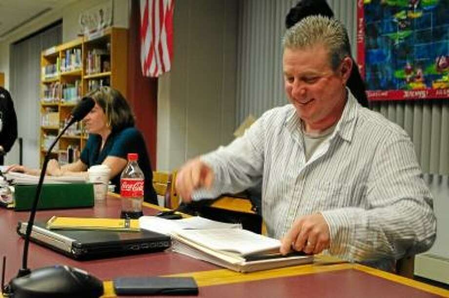 Torrington Board of Education chair Kenneth Traub after passing the 2013-2014 budget that will go on to the Torrington Board of Finance for further scrutiny. -- Jessica Glenza/Register Citizen