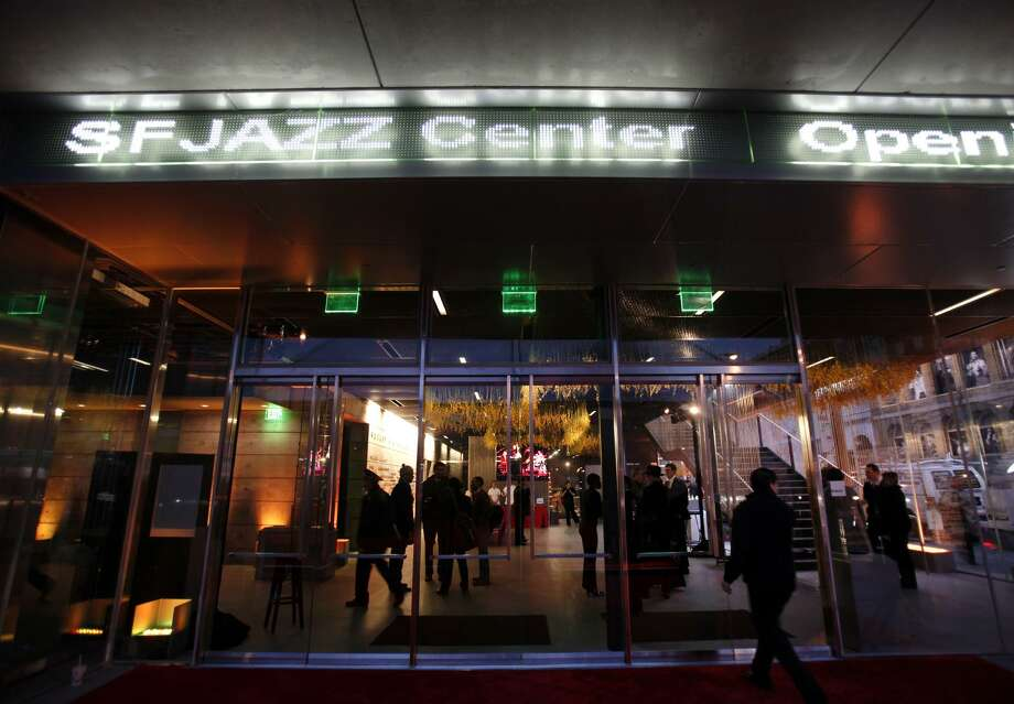 The SFJazz Center prepares to open the doors for its opening night concert Wednesday evening Jan. 23, 2013 in San Francisco. (Karl Mondon/Staff) Photo: San Jose Mercury News / San Jose Mercury News