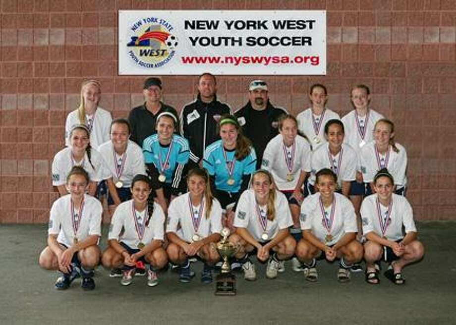 SUBMITTED PHOTO Chittenango's Lauren Billington, pictured on the far left of the middle row, recently helped The Empire United Soccer Academy Girls U15 team win the NY State Cup.