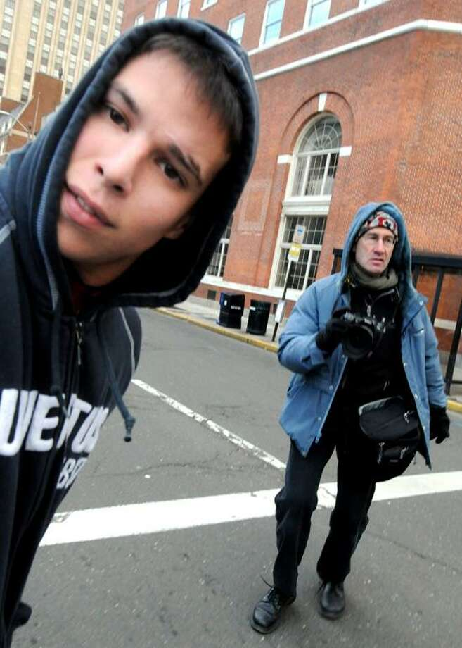 Alex Wullaert of Branford, 22,  leaves New Haven Superior Court  Friday, February 1, 2013. Wullaert was accused of killing his dog in May of 2012. Photo by Peter Hvizdak / New Haven Register Photo: New Haven Register / ©Peter Hvizdak /  New Haven Register